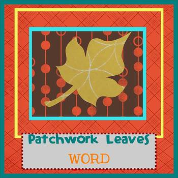 AUTUMN PATCHWORK theme - Newsletter Template WORD