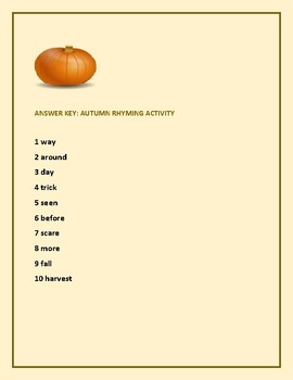 AUTUMN RHYMING ACTIVITY