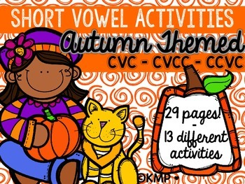 AUTUMN THEMED Short Vowel Activities Set