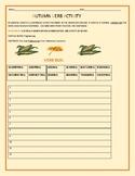 AUTUMN VERB ACTIVITY:  PRACTICE WRITING FUN SENTENCES!