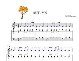 BOOMWHACKERS SCORE AND AUDIO FILE. AUTUMN. Third movement.