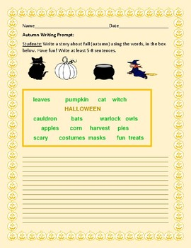 AUTUMN WRITING PROMPT: HAVE FUN!