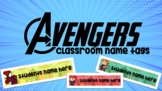 AVENGERS CLASSROOM DESK TAGS/NAME TAGS BACK TO SCHOOL CLAS