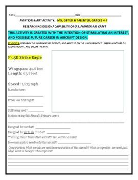 AVIATION: AIRCRAFT DESIGN/ ART ACTIVITY: GRADES 4-7