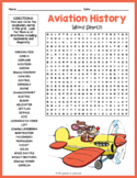 AVIATION HISTORY Word Search Puzzle Worksheet Activity