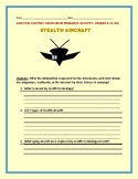 AVIATION: STEALTH AIRCRAFT: A RESEARCH ASSIGNMENT, GRADES 8-12,MG