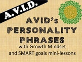 College Prep- 4 day Personality Phrase lessons with GROWTH MINDSET