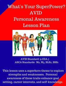 AVID & ASCA Aligned Personal Awareness What's Your SuperPower Lesson Plan