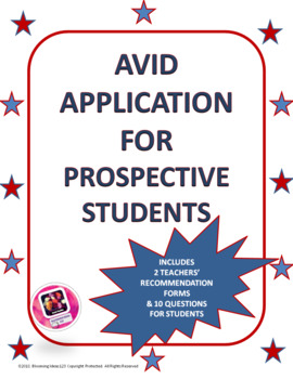 AVID Application for perspective students