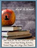 Back to School Bundle (Middle School)