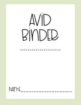 AVID Binder Covers