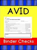 AVID Binder Organization