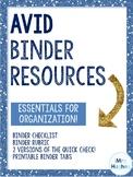 AVID Binder Resources
