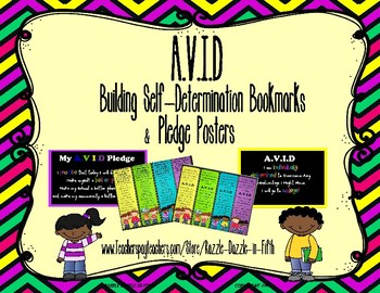 AVID Building Self-Determination Posters and Bookmarks