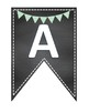AVID Bulletin Board Header Decoration Chalkboard mint light green pennant chalk