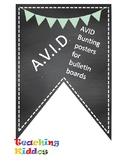 AVID Bulletin Board Header Decoration Chalkboard mint light green pennant chalk