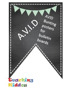 Avid Bulletin Board Header Decoration Chalkboard Mint Light Green
