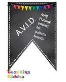 AVID Bulletin Board Header Decoration Chalkboard multi color rainbow pennant