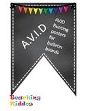 AVID Bulletin Board Header Decoration Chalkboard multi col
