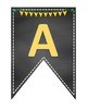 AVID Bulletin Board Header Decoration Chalkboard yellow green gold pennant