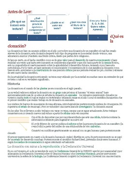 AVID Close Reading guide in Spanish
