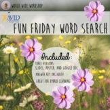 AVID College Readiness Fun Friday Word Search Activity!