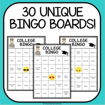 AVID CollegeWeek Bingo