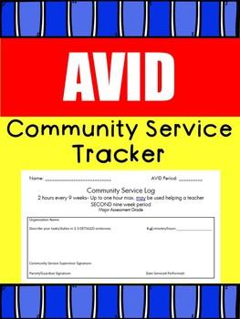 AVID : Community Service Tracker