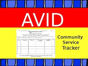AVID: Community Service Tracker