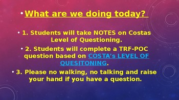 AVID-Costa's Levels of Questioning