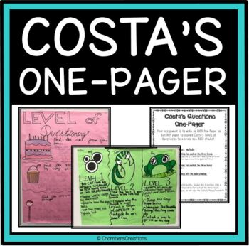 AVID Costa's Levels of Questioning One-Pager