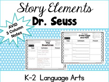 AVID Elementary: Story Elements with Dr. Seuss