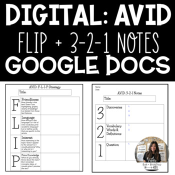 AVID FLIP & 3-2-1 Notes DIGITAL/GOOGLE DOC