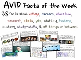 AVID Facts of the Week (REVISED AND EXPANDED FOR 2016-2017)