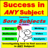 AVID, Finding Success in ANY Subject: Survey, Writing, Art