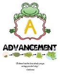 AVID Frog Bulletin Board Signs