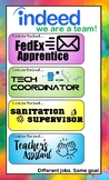 AVID Job Chart (Great for departmentalized classes!)