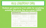 AVID Leadership Card