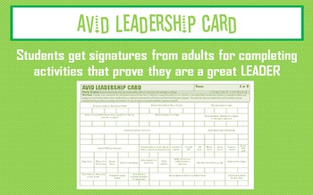 AVID Leadership Card