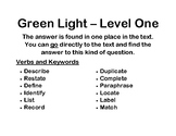 AVID Leveled Questions - Stop Light Posters