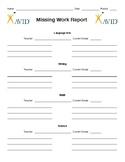 AVID Missing Work Report