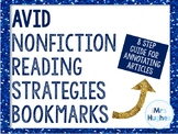 AVID Nonfiction Strategies Bookmark