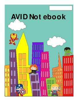 AVID Notebook Avenger Cover Page