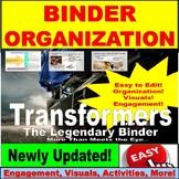 AVID Binder, Organization, Supplies, Questions, Purpose