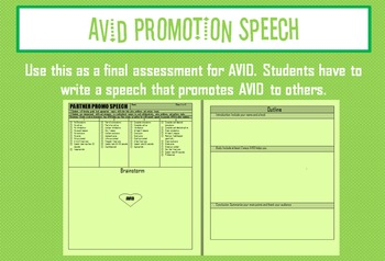 AVID Promotion Speech