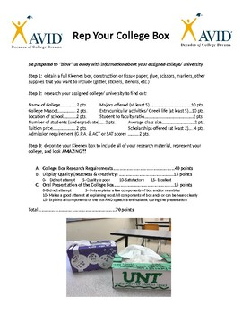 AVID Rep My College Box Project