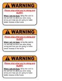 AVID SLANT Warning Cards