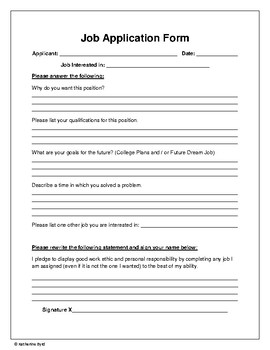 Student Jobs Application Worksheets & Teaching Resources | TpT on employee benefits form, cv form, job vacancy, job requirements, agreement form, job openings, contact form, job applications you can print, job advertisement, job resume, job search, cover letter form, job applications online, job payment receipt, job letter, job opportunity,