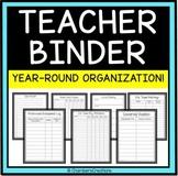 Back to School Teacher Binder, Teacher Planner, avid classes