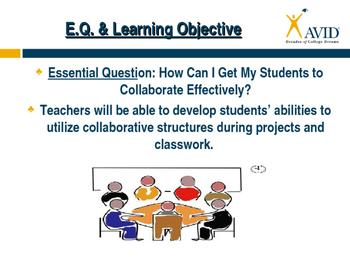 AVID-Team Building & Collaboration-Professional Development